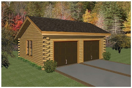 Logcabinkits choice custom prepriced cabin kits el real for Log home garage kits